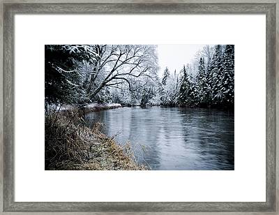 Ausable Winter Framed Print by Todd Bissonette