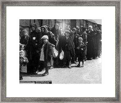 Auschwitz-28 Framed Print