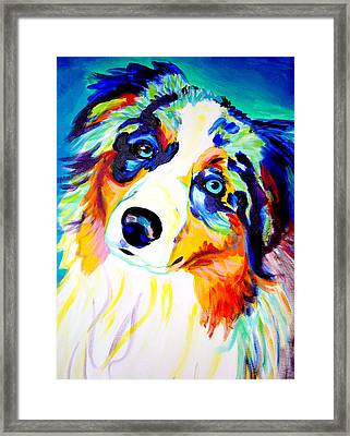 Aussie - Moonie Framed Print by Alicia VanNoy Call