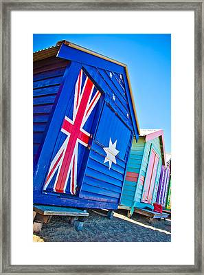 Aussie Beach Shack Framed Print by Az Jackson