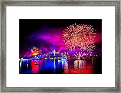 Aussie Celebrations Framed Print by Az Jackson