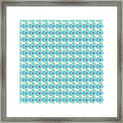 Aussie Dog Pattern Framed Print