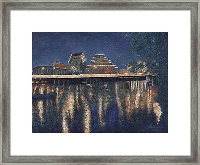 Austin At Night Framed Print by Felipe Adan Lerma