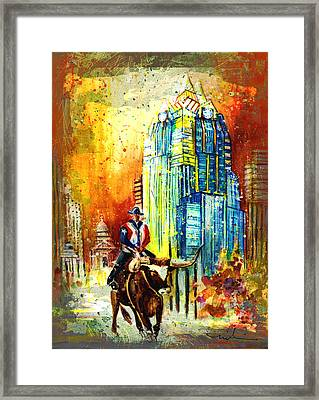 Austin Authentic Madness 01 Framed Print