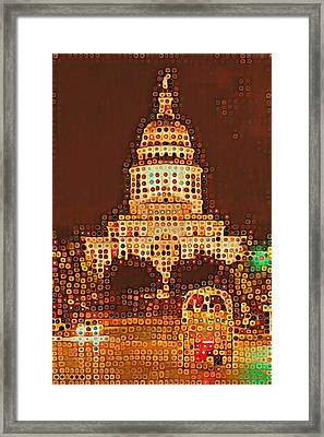 Austin Capitol At Night Framed Print
