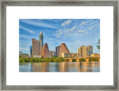 Austin City View Framed Print by Tod and Cynthia Grubbs