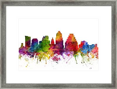 Austin Cityscape 06 Framed Print by Aged Pixel