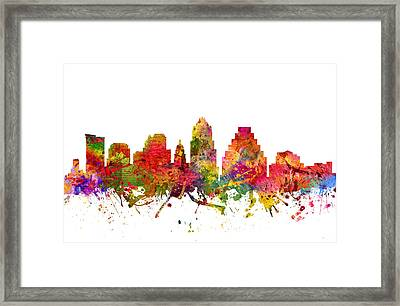 Austin Cityscape 08 Framed Print by Aged Pixel