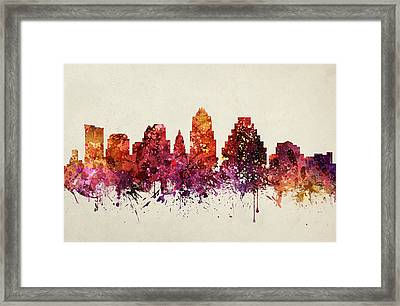 Austin Cityscape 09 Framed Print by Aged Pixel
