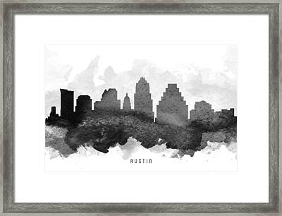 Austin Cityscape 11 Framed Print by Aged Pixel