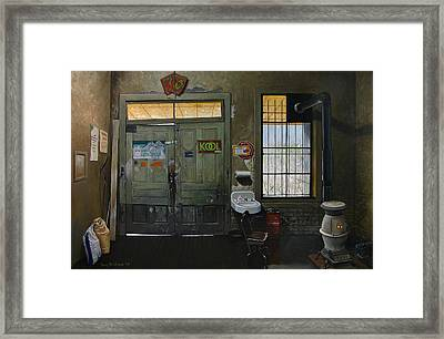 Austin General Store Interior Framed Print by Doug Strickland