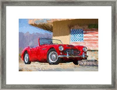 Austin Healey 3000 Impasto Study 2 Framed Print by Scott Campbell