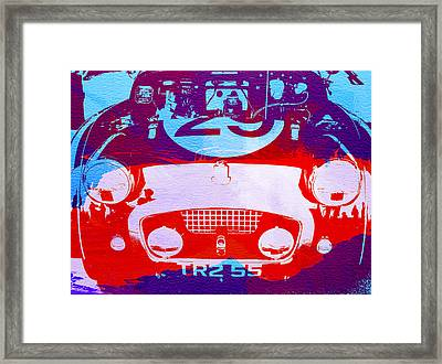 Austin Healey Bugeye Framed Print by Naxart Studio