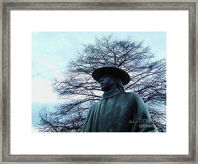 Austin Hike And Bike Trail - Iconic Austin Statue Stevie Ray Vaughn - Two Framed Print by Felipe Adan Lerma