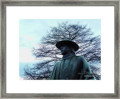 Austin Hike And Bike Trail - Iconic Austin Statue Stevie Ray Vaughn - Two Framed Print