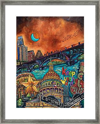 Austin Keeping It Weird Framed Print