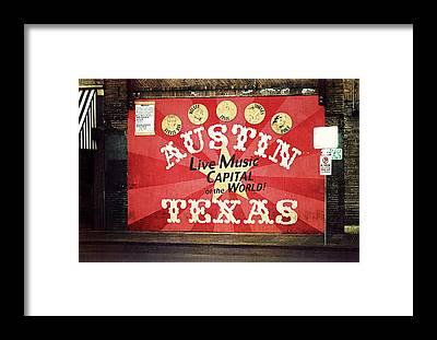 Capital Of Texas Framed Prints