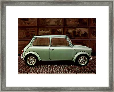 Austin Mini Cooper Mixed Media Framed Print by Paul Meijering