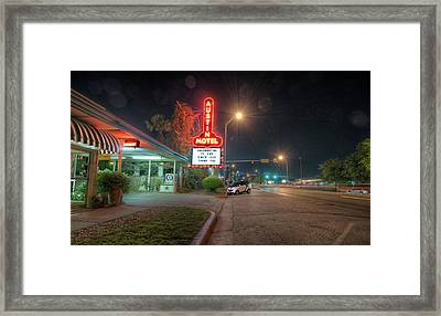 Framed Print featuring the photograph Austin Motel by John Maffei