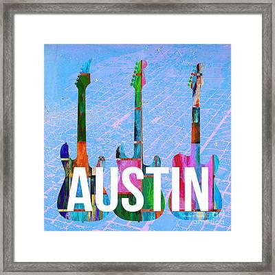 Austin Music Scene Framed Print