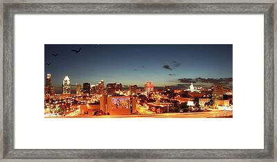 Austin Night Framed Print