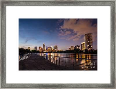 Austin Night Skyline Framed Print by Tod and Cynthia Grubbs