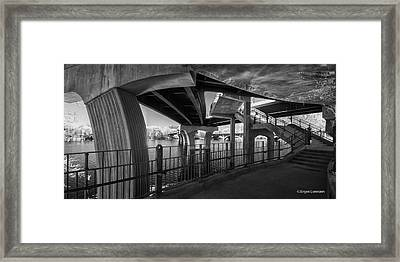 Concrete And Steel Framed Print