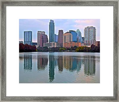 Austin Reflects In 2016 Framed Print by Frozen in Time Fine Art Photography