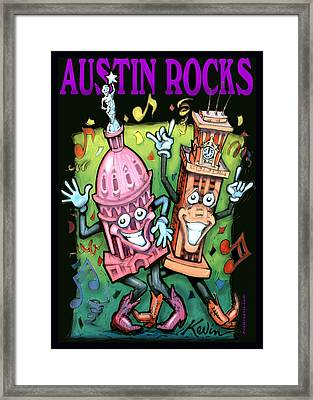 Austin Rocks Framed Print