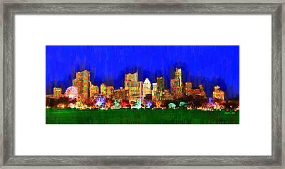 Austin Skyline 150 - Pa Framed Print by Leonardo Digenio