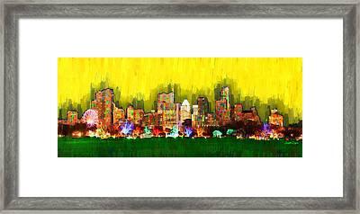 Austin Skyline 158 - Da Framed Print