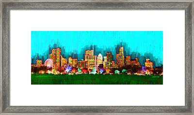 Austin Skyline 164 - Pa Framed Print by Leonardo Digenio