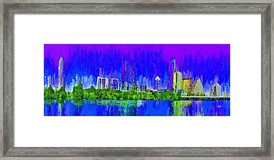 Austin Skyline 313 - Pa Framed Print