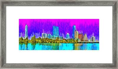 Austin Skyline 316 - Da Framed Print by Leonardo Digenio