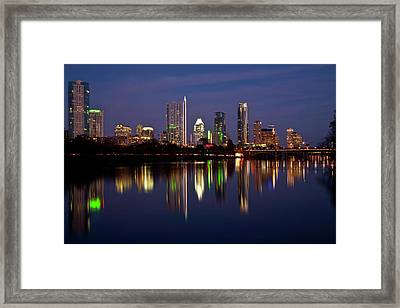 Austin Skyline Framed Print by Mark Weaver
