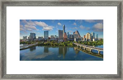 Austin Skyline Panorama Spring Afternoon 7-1 Framed Print by Rob Greebon