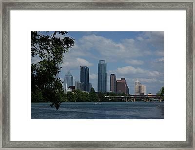 Austin Skyline Framed Print by Siobhan Yost