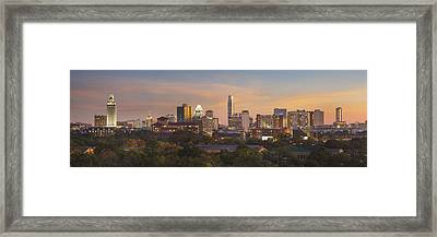 Austin Skyline Sunset From The Northwest 1 Framed Print by Rob Greebon