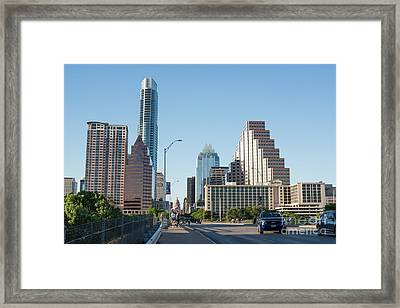 Austin Texas City Skyline During Day Framed Print by Juli Scalzi