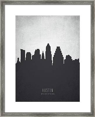 Austin Texas Cityscape 19 Framed Print by Aged Pixel
