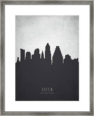 Austin Texas Cityscape 19 Framed Print