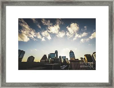 Austin Texas Downtown Buildings Photo Framed Print