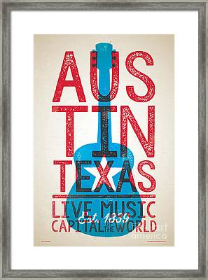 Austin Texas - Live Music Framed Print