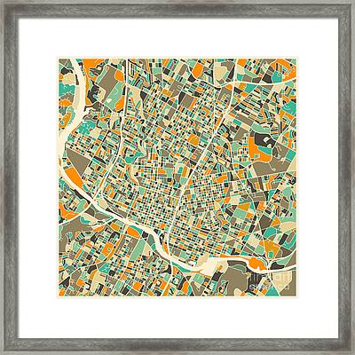 Austin Map Framed Print