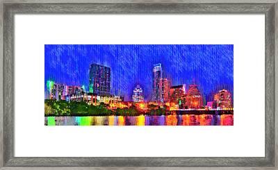 Austin Texas Skyline 100 - Da Framed Print