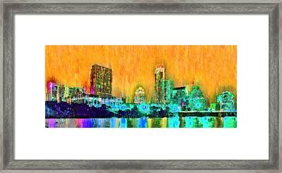 Austin Texas Skyline 108 - Da Framed Print