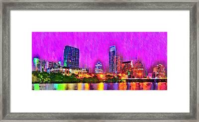 Austin Texas Skyline 111 - Da Framed Print