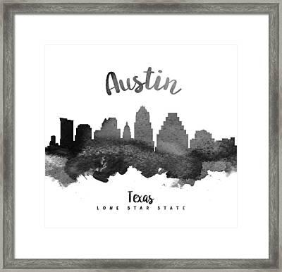 Austin Texas Skyline 18 Framed Print by Aged Pixel