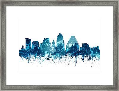 Austin Texas Skyline 19 Framed Print by Aged Pixel