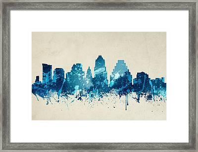Austin Texas Skyline 20 Framed Print